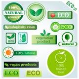 Значки и знаки вектора Eco Стоковые Изображения RF