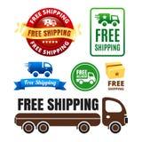 Значки и значки бесплатной доставки Стоковые Фото