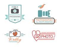 Значки и ярлыки фотографии в винтажном стиле Стоковые Изображения