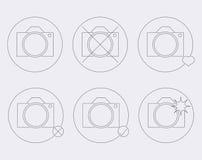 Значки камер Стоковая Фотография