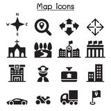 Значки карты Стоковые Изображения