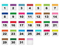 Значки календарных дней иллюстрация вектора