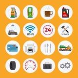 Значки квартиры обслуживания автомобиля Стоковое Изображение
