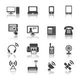 Значки коммуникационного устройства Стоковое Изображение RF