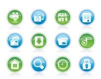 Значки компьютера и вебсайта Стоковая Фотография RF