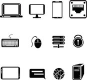 значки компьютерного оборудования Стоковое Изображение RF