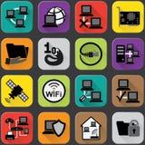 Значки компьютерной сети Стоковое фото RF