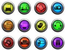 Значки компьютерной технологии Стоковое Изображение