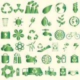 Значки консервации мира Иллюстрация штока