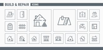 Значки конструкции & ремонта - установите сеть & чернь 02 бесплатная иллюстрация