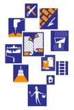 Значки конструкции Стоковое Изображение RF
