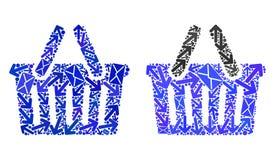 Значки корзины для товаров коллажа троп почты бесплатная иллюстрация