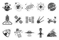 Значки космоса иллюстрация вектора