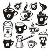 Значки кофейной чашки Стоковые Фотографии RF