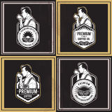 Значки кофе ретро Стоковые Фотографии RF