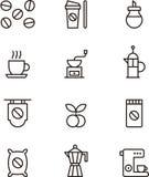 Значки кофе Стоковое Изображение RF