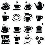 Значки кофе Стоковые Фото