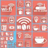 Значки 2 кофе WIFI Стоковое Изображение RF