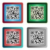 Значки кода QR Стоковая Фотография RF