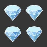 Значки Кристл диаманта установили на темную предпосылку вектор бесплатная иллюстрация