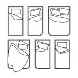 Значки кровати на белой предпосылке иллюстрация штока