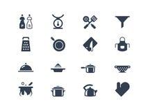 Значки кухни Стоковое Изображение RF