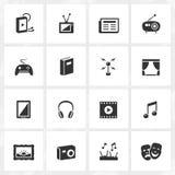 Значки культуры и развлечений Стоковые Фотографии RF