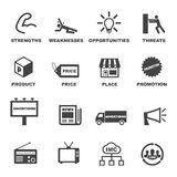 Значки маркетинга и рекламы Стоковая Фотография RF