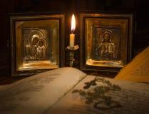 Значки матери бога и Иисуса Христоса стоковая фотография rf