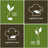 Значки меню вегетарианца и vegan Стоковая Фотография RF