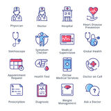 Значки медицинских & здравоохранения установили 1 - серия плана Стоковое Изображение RF