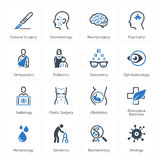 Значки медицинских & здравоохранения установили 2 - специальности Стоковые Изображения RF