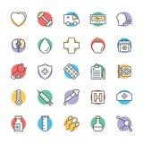 Значки 7 медицинских и здоровья холодные вектора Стоковые Фото