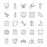 Значки 8 медицинских и здоровья холодные вектора Стоковые Изображения