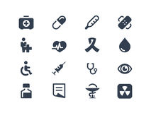 Значки медицинских и здравоохранения Стоковые Фото