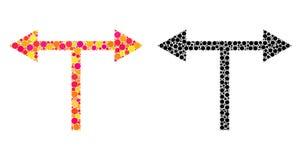 Значки мозаики стрелок развилки пиксела левые бесплатная иллюстрация