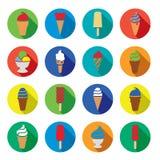 Значки мороженого Стоковые Изображения