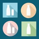 Значки молока Стоковое Изображение