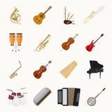 Значки музыкальных инструментов Стоковая Фотография RF