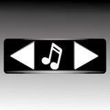 Значки музыки Стоковое фото RF