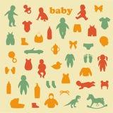 Значки младенца иллюстрация штока