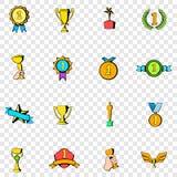 Значки награды установленные Стоковые Фотографии RF