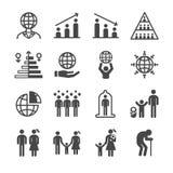 Значки населения и гражданина бесплатная иллюстрация