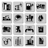 Значки нефтедобывающей промышленности вектора Стоковые Изображения RF