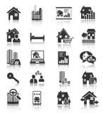 Значки недвижимости стоковое фото