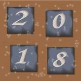 Значки Нового Года s с номерами Стоковая Фотография