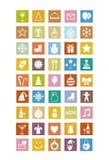 Значки Нового Года стоковая фотография rf