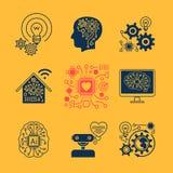 Значки новых технологий Стоковое Изображение