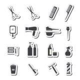 Значки оборудования парикмахерских услуг Стоковые Фото