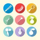 Значки оборудования парикмахерских услуг Стоковая Фотография RF